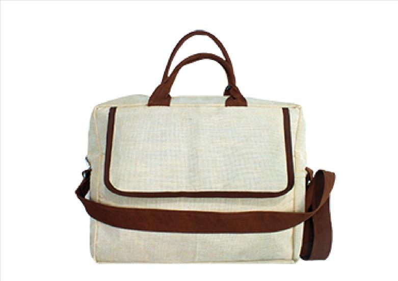 Basic Brown N Beige Work Jute Bag