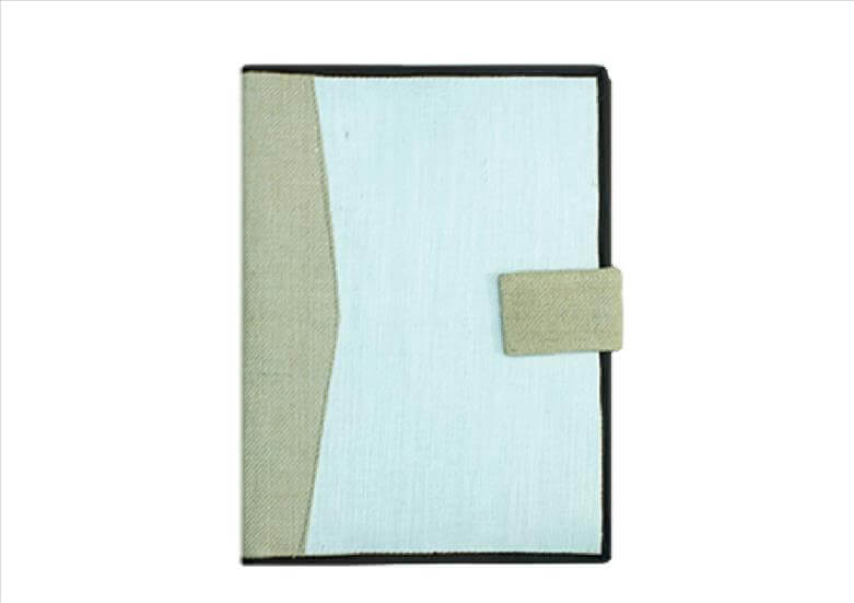 White & Beige Handy Folder